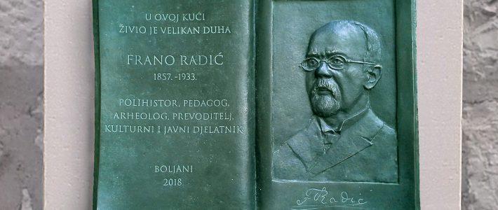Otkrivanje spomen obilježja Franu Radiću